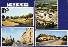Momignies - 4 Vues ( Place Des Arzillères, Eglise Et Grand Place, Rue Mandenne , Heureux Abri ) - Momignies