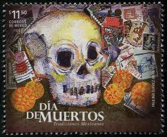 Mexico (2014) - Set -  /  Dead - Dia De Los Muertos - Skull - Stamp On Stamp - Timbre Sur Timbre - Feste