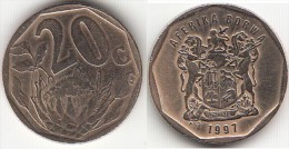 Sud Africa 20 Cents 1997 (Aferika Borwa) Km#162 - Used - Sud Africa