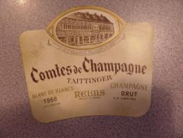 Etiquette De Champagne N°2710 TAITTINGER COMTES DE CHAMPAGNE 1966 - Champagne