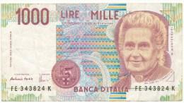 1000 Lires 1990 - A Circulé -  Très Bon état. - [ 2] 1946-… : Républic