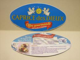 Etiquette Couvercle Fromage CAPRICE DES DIEUX Offre Gourmande 300g + Recette Bouchée Bresaola - Fromage
