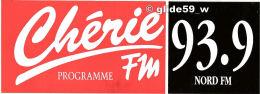 Autocollant - Chérie Programme FM - 93.9 Nord FM - Stickers