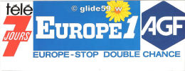 Autocollant - EUROPE 1 - Télé 7 Jours - AGF - Stickers