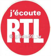 """Autocollant - RTL (le Fameux """"Rond Rouge"""") - Stickers"""