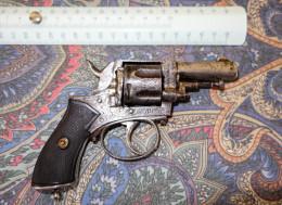 REVOLVER ANCIEN A RESTAURER  //  MODELE  1870 LEFAUCHEUX A DEFINIR // MARQUAGE DIVERS - Decorative Weapons