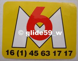 Autocollant - M6 (fond Jaune) - Stickers