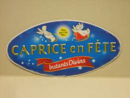 Etiquette Couvercle Fromage CAPRICE EN FETE Instants Divins 300g (Caprice Des Dieux Noël) - Fromage