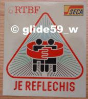 Autocollant - RTBF - SECA - Je Réfléchis (sur Support Scotch 3M) - Stickers