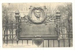 Cp, 56, Vannes, Plaquette Placée Sur Le Collège En Mémoire De Jules Simon, Voyagée 1905 - Vannes