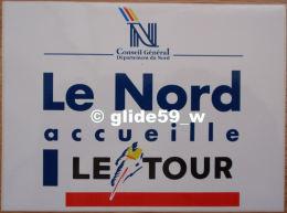 Autocollant - Le Nord Accueille Le Tour - Conseil Général Du Nord (années 2000) - Stickers