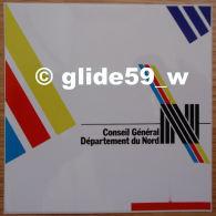 Autocollant - Conseil Général - Département Du Nord - Stickers