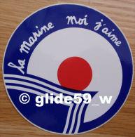 Autocollant - La Marine, Moi J'aime - Stickers