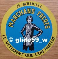 Autocollant - Je M'habille MARCHAND FRERES, Le Vêtement Que L'on Préfère - Stickers