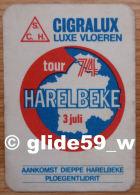 Autocollant Tissu - HARELBEKE Tour 74 - 3 Juli (Belgium) - CIGRALUX - Aankomst-Dieppe-Harelbeke-Ploegentijdrit -n° 18783 - Stickers