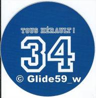 Autocollant - 34 Tous Hérault ! (bleu Foncé) - Stickers