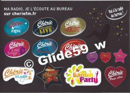 Planche De Mini Autocollants - Chérie - Ma Radio, Je L'écoute Au Bureau Sur Cheriefm.fr - Stickers