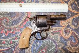"""REVOLVER ANCIEN TYPE BULLDOG 320  //  MARQUAGE SUR DESSUS CANON """"MULLER"""" // NE FONCTIONNE PAS // A RESTAURER - Decorative Weapons"""