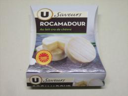Etiquette Emballage Fromage Chèvre ROCAMADOUR Les Saveurs U 105g - Fromagerie De Vailles 46 Lot - Fromage