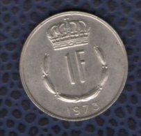 Luxembourg 1973 Pièce De Monnaie Coin 1 Franc Grand Duc Jean - Luxembourg