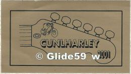 RARE ! Autocollant - CUNLHARLEY 2001 (Dernière Concentration Harley-Davidson à CUNLHAT Dans Le Puy-de-Dôme) - Stickers