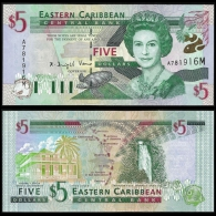 East Caribbean States 5 DOLLARS ND 2000 Montserrat P 37m UNC - Caraïbes Orientales