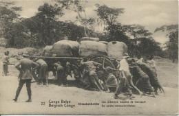 Belgisch Congo Belge Entier 10c Vue 22 Les 1° Moyen De Transport C.Lusambo& Kinshasa 1913 V.Bruxelles C.d'arrivée PR1673 - Entiers Postaux