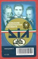 TESSERA FILATELICA ITALIA - 2012 - 20º Anniversario Della Direzione Investigativa Antimafia - DIA - 6. 1946-.. Repubblica