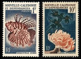 NOUV.-CALEDONIE 1959 - Yv. 291 Et 293 ** SUP  Cote= 5,70 EUR - Coraux Et Poissons (2 Val.) ..Réf.NCE22819 - Neukaledonien
