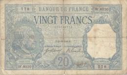 Billet 20 F Bayard Du 23-2-1918 Alph. W.4030 - 20 F 1916-1919 ''Bayard''