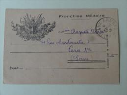 Carte Lettre Franchise Militaire Cachet Poste Aux Armees 1940 - Marcophilie (Lettres)