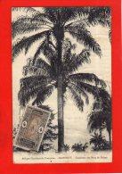AFRIQUE OCCIDENTALE FRANCAISE . DHOMEY   . CUEILLETTE DES NOIX DE PALME . VOIR TIMBRE . ( CHAR 230 ) - Dahomey