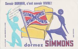 Savouir Dormir, C´est Savoir Vivre ! Dormez SIMMONS (Tampon Michel MATHIEU Besançon) - Buvards, Protège-cahiers Illustrés