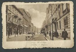 1917. ILLUSTRATED  POSTCARD. LWOW -ul. 3 MAJA .  STAMP REMOVED. CENSOR  MARK. - ....-1919 Gouvernement Provisoire