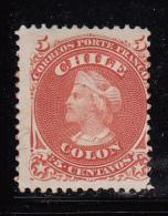 Chile Unused Scott #17 5c Christopher Columbus - Chili