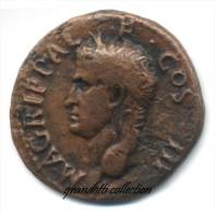 AGRIPPA RARO ASSE CON IL NETTUNO ROMA 37 - 41 AVANTI CRISTO - 1. La Dinastia Giulio-Claudia Dinastia (-27 / 69)
