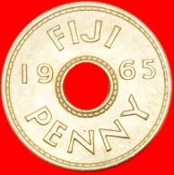 ★HOLE★ FIJI★ 1 PENNY 1965 UNC! LOW START ★ NO RESERVE! - Figi