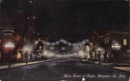 Main Street At Night Aberdeen South Dakota - Aberdeen