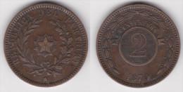 PARAGUAY : 2 CENTESIMOS 1870 Bronze  (voir Scan) - Paraguay