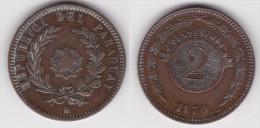 PARAGUAY : 2 CENTESIMOS 1870 Bronze SUPERBE  (voir Scan) - Paraguay