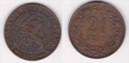 PAYS BAS  NEDERLAND  : 2 CENTS 1/2 1898 Bronze  (voir Scan) - [ 3] 1815-… : Regno Dei Paesi Bassi