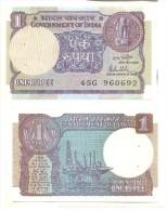 India 1 Rupee 1981 Pick-78-a UNC - India