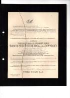 Fernand Baron De Bieberstein Rogalla Zawadsky Bourgmestre Gestel Depuis 1890 °Anvers 1859+16/6/1935 Straten Ponthoz - Overlijden
