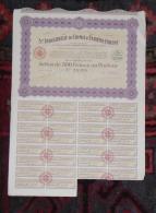INDOCHINE Action 500 Francs SOCIETE INDUSTRIELLE DE CHIMIE D EXTREME ORIENT 1922 - Asie
