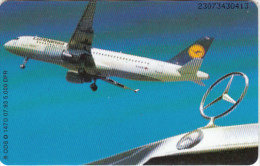 GERMANY(chip) - Lufthansa, Mercedes Benz(O 147 D), Tirage 5000, 07/93, Used - Vliegtuigen