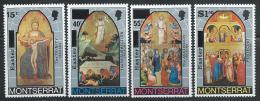 """Montserrat     """"Easter-Paintings""""      Set    SC# 333-36   MNH** - Religious"""