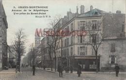 92 - GRAND MONTROUGE - Avenue De La République - Vue Prise Du Rond Point - Café Bières De La Meuse  Dos Vierge - 2 Scans - Montrouge