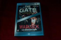 2 FILM ° THE GATE  +  WARLOCK  LA REDEMPTION - Fantasy