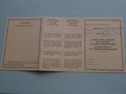 Carte Des Conges GUNSTverlof- En Vergunningskaart 2 ADM Cie Klein Kasteeltje ( BLANCO Afgestempeld ) !! - Documenten