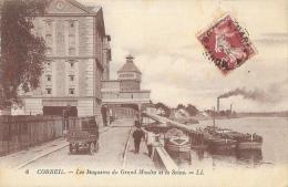 Corbeil (Essonne) - Les Magasins Du Grand Moulin Et La Seine - Carte LL N°6 - Corbeil Essonnes